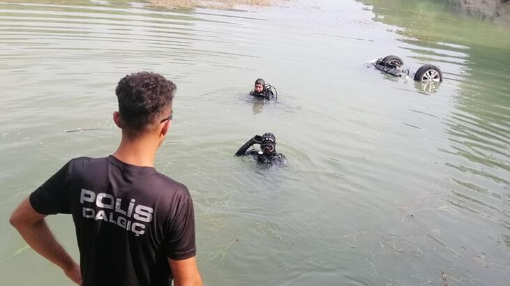 Adana'da akılalmaz olay! Tansiyonu düşen sürücü göle uçtu