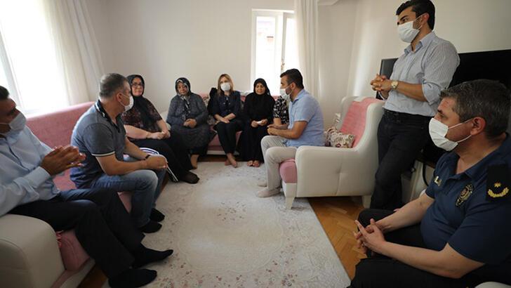 MKE Ankaragücü Başkanı Mert'ten şehit ailesine taziye ziyareti