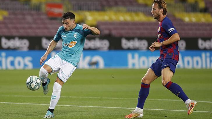 Osasuna, deplasmanda 10 kişiyle Barcelona'yı yendi!