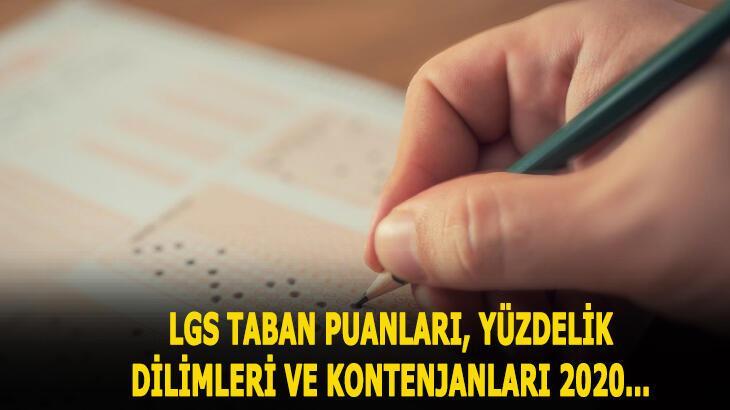LGS taban puanları ve yüzdelik dilimi 2020! LGS-MEB Fen Liseleri, Anadolu Liseleri il il taban puanları ve kontenjanları...