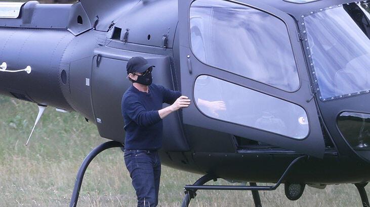 Tom Cruise yemeğe helikopterle gitti!