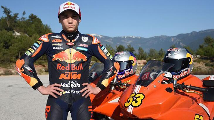 Milli motosikletçi Deniz Öncü, İspanya'daki yarışı tamamlayamadı