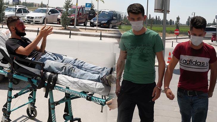 Aksaray'da bıçaklanan genç bir gün sonra şüpheliyi hastanelik etti!