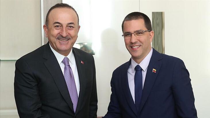 Dışişleri Bakanı Mevlüt Çavuşoğlu, Venezuelalı mevkidaşıyla  görüştü