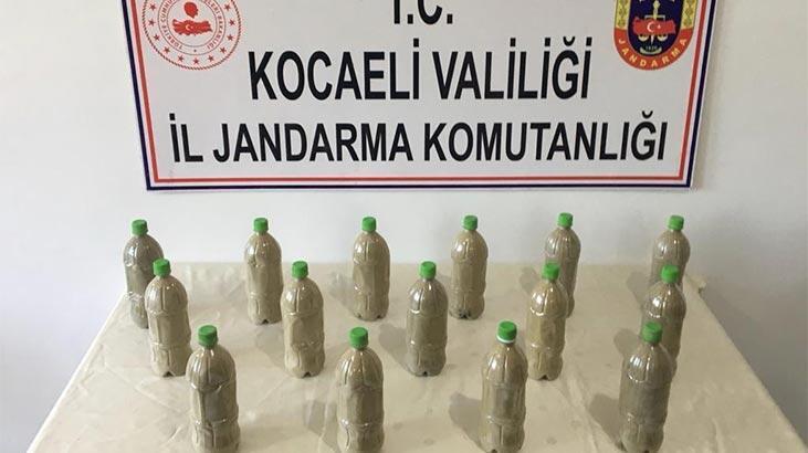 150 bin TL değerinde! 15 adet pet şişenin içerisine saklamışlar