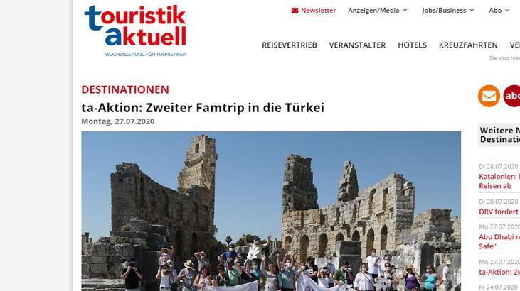 Alman basınından Türk turizmine koronavirüs övgüsü