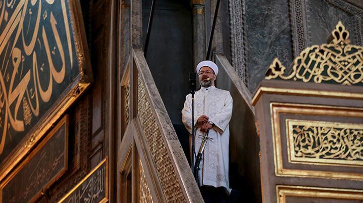 Ayasofya-i Kebir Cami-i Şerifi'nde 86 yıl sonra ilk bayram hutbesi okundu