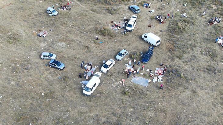 Küçükçekmece'de kaçak kesimler havadan fotoğraflandı