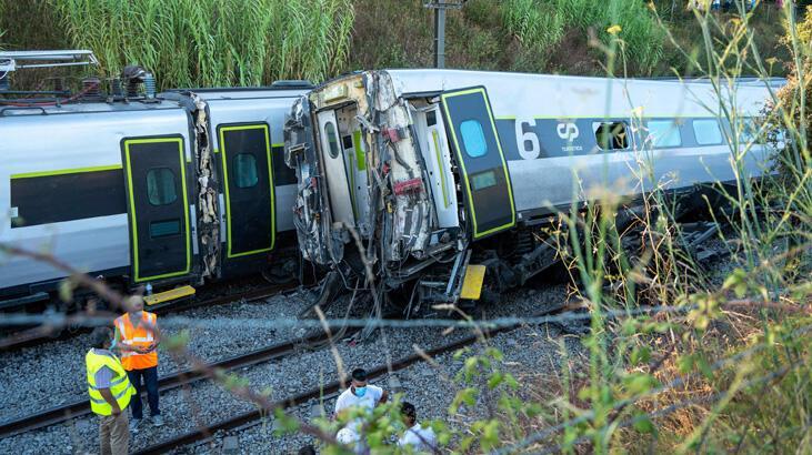 Portekiz'de hızlı tren bakım aracıyla çarpıştı