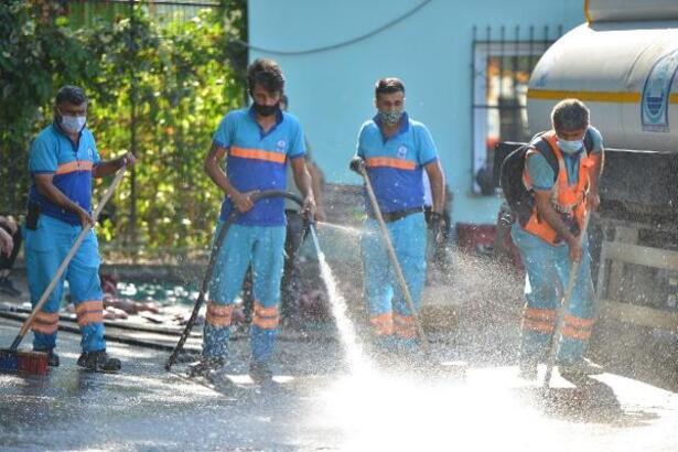 Yıldırım Belediyesi kurban kesim yerlerinde hijyen çalışmalarını sürdürüyor