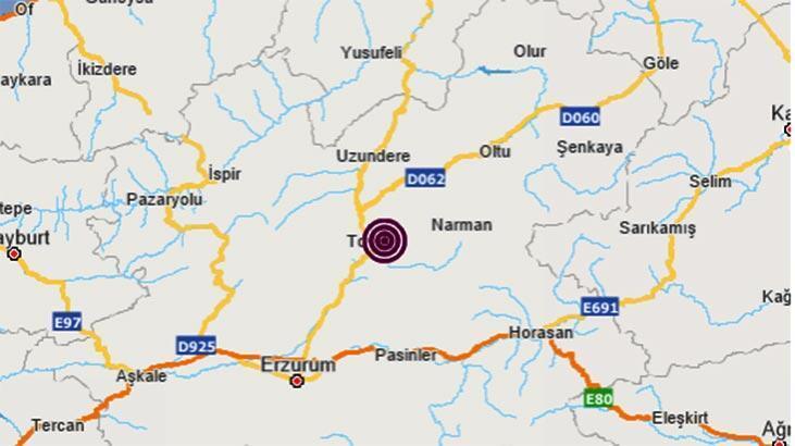 Son dakika haberi: Erzurum'da deprem! Büyüklüğü...