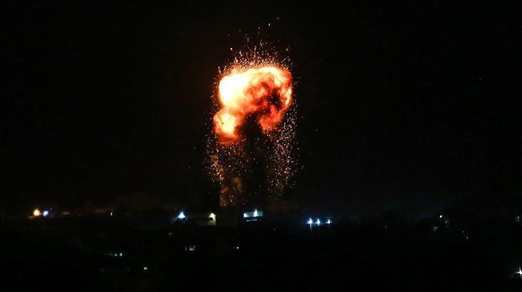 Son dakika... İsrail savaş uçakları Gazze'yi vurdu