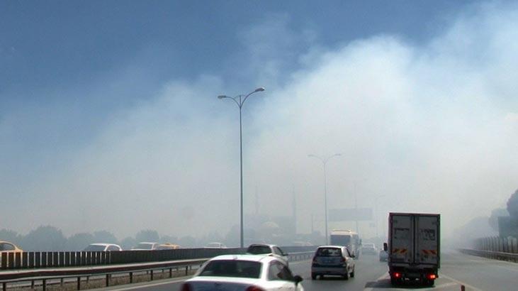 Son dakika... Bayrampaşa'da yol kenarında yangın! Göz gözü görmedi
