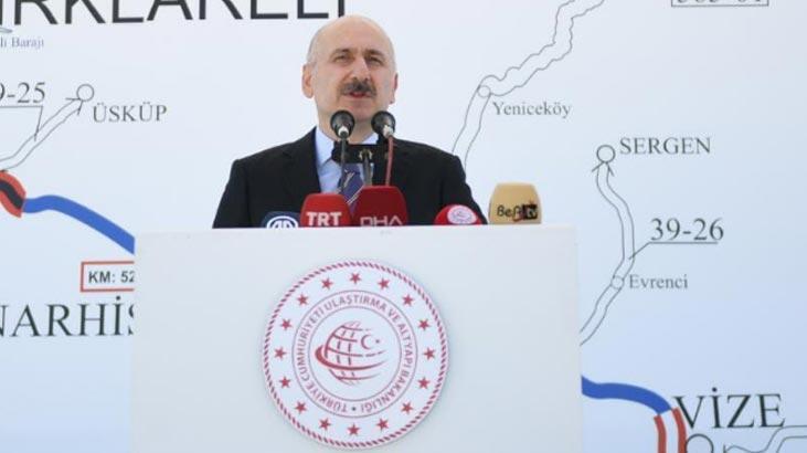 Bakan Karaismailoğlu açıkladı! İstanbul-Edirne 1 saat 20 dakikaya düşecek