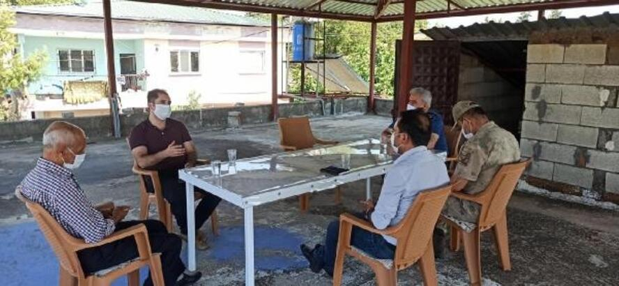 Kaymakam Akça'dan şehit ailelerine bayram ziyareti