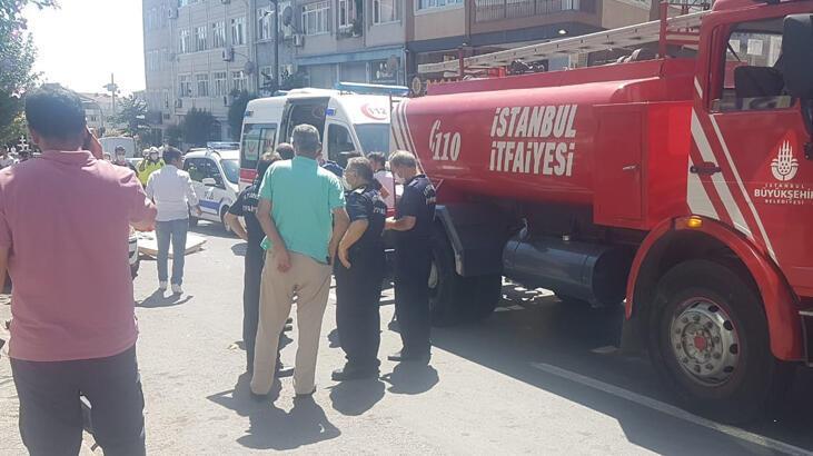 Fatih'te feci olay! İtfaiye aracının altında kalan motosikletli öldü