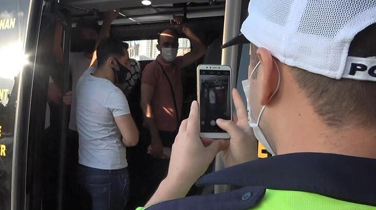 Esenyurt'ta yine aynı manzara! 36 yolcu taşıyan minibüsçüye ceza