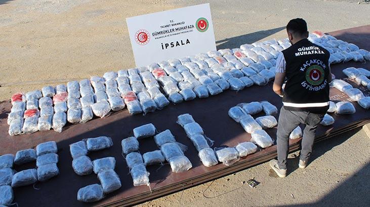 İpsala'da operasyon! TIR'dan 227 kilo esrar çıktı