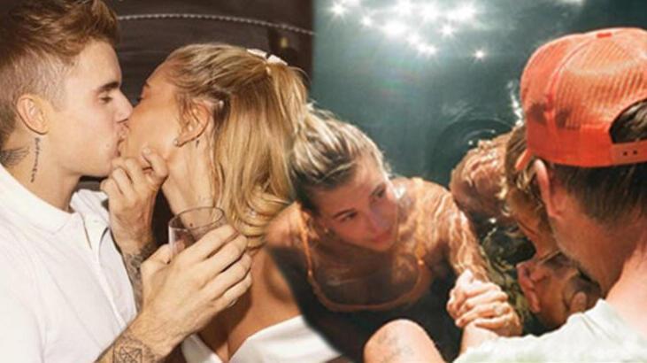 Justin Bieber-Hailey Baldwin, evliliklerini kutsamak için birlikte vaftiz oldu
