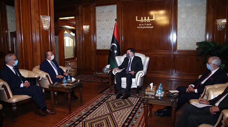 Çavuşoğlu ve Maltalı mevkidaşı Bartolo, Libya Başbakanı Serrac'la görüştü