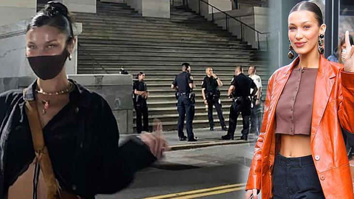 Bella Hadid'den polislere şoke eden hareket