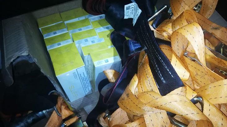 Sarp Sınır Kapısı'nda bin 160 paket kaçak sigara ele geçirildi