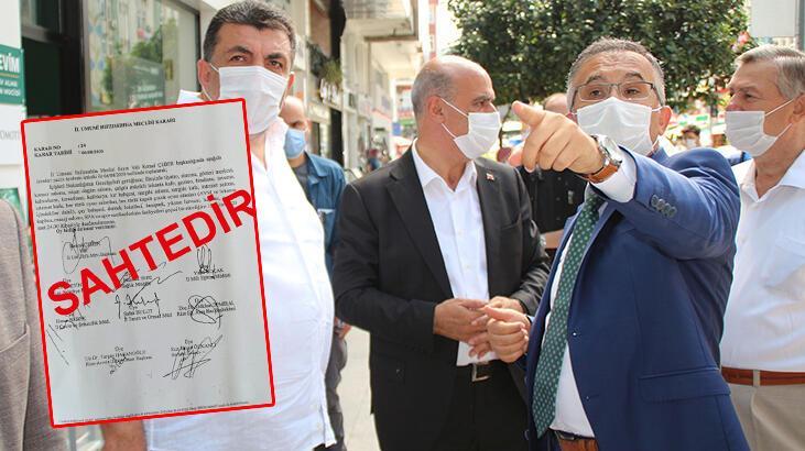 Valinin imzasını taklit edip belge hazırlamışlar! Soruşturma başlatıldı