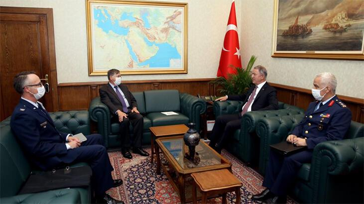 Son dakika... Bakan Akar, ABD Ankara Büyükelçisi'ni kabul etti