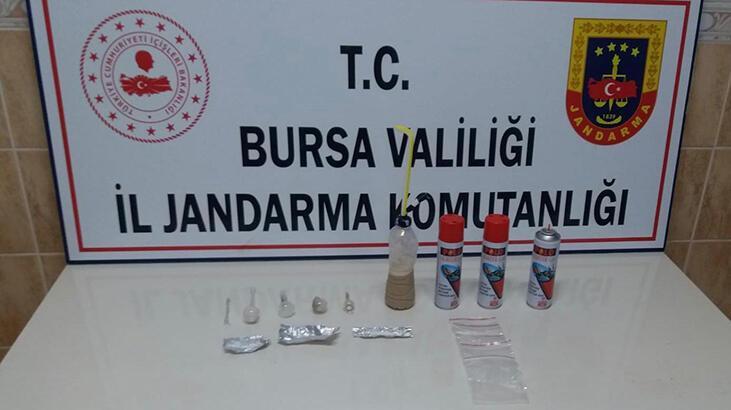 Bursa'da jandarmadan uyuşturucu operasyonu: 4 gözaltı