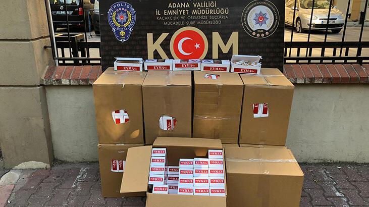 Adana'da 830 bin kaçak makaron ele geçirildi