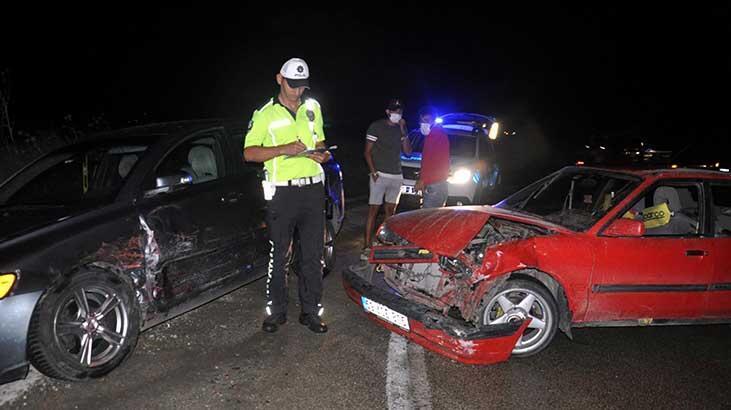 Tekirdağ'da otomobiller çarpıştı: 4 yaralı