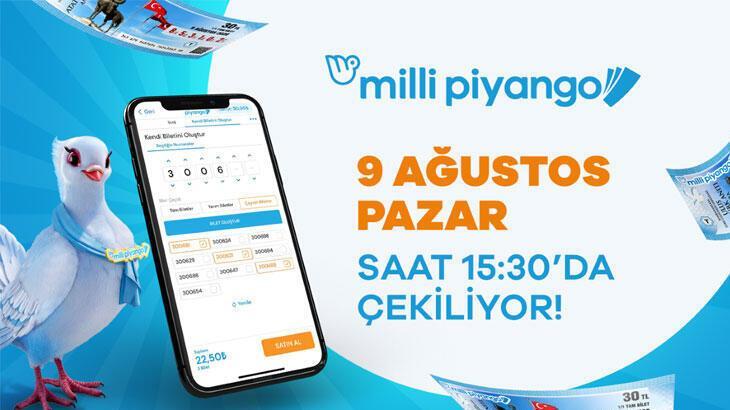 9 Ağustos Milli Piyango çekiliş sonuç ekranı!  Milli Piyango Online sonuç sayfası...