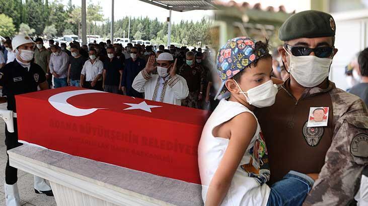 Adana'da kalp krizi geçiren özel harekat polisi toprağa verildi