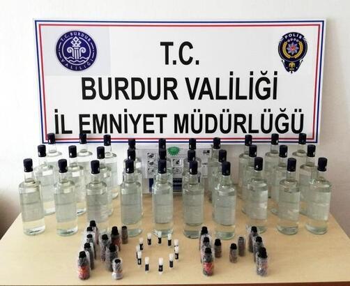 Polisten kaçak içki baskını