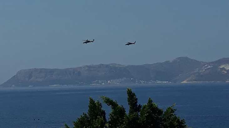 Akdeniz'de hareketli dakikalar! Helikopterle havalandı
