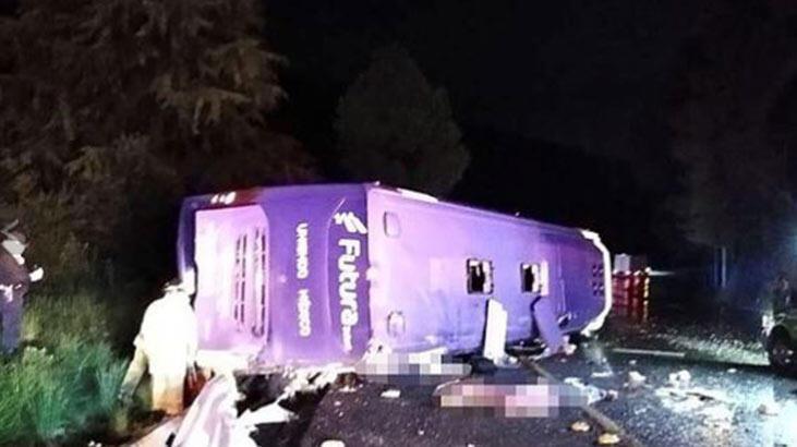 Meksika'da yolcu otobüsü devrildi: 13 ölü, 20 yaralı