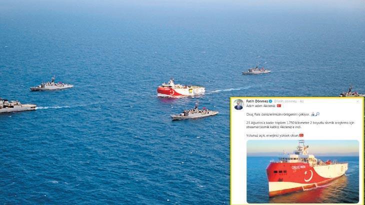 Bakan Dönmez'den 'Oruç Reis' paylaşımı: Denizlerimizin röntgenini çekiyor