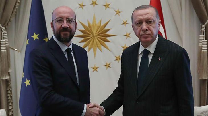 Son dakika... Cumhurbaşkanı Erdoğan, AB Konseyi Başkanı ile görüştü