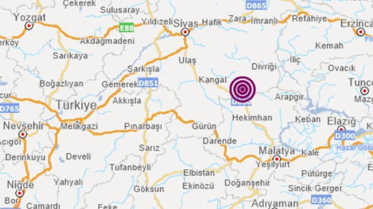 Son dakika... Sivas'ta 3.8 büyüklüğünde deprem