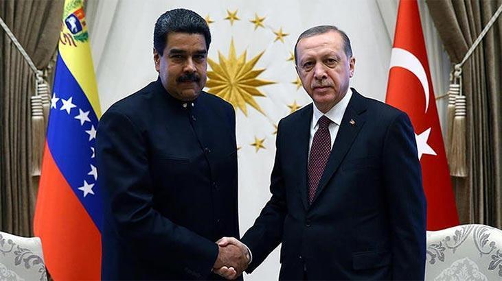 Son dakika haberi: Cumhurbaşkanı Erdoğan, Maduro ile görüştü