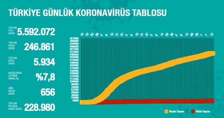 Bugüne ait koronavirüs tablosu | 14 Ağustos Koronavirüs vaka ve ölen sayısı kaç?