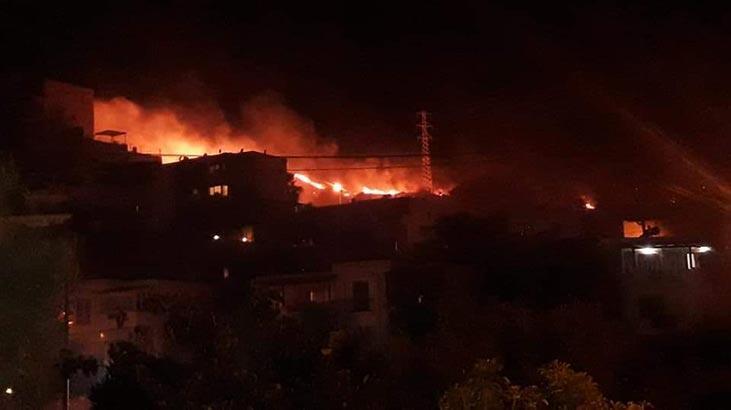 Tatil cennetinde korkutan yangın! 1 saat sonra kontrol altına alındı