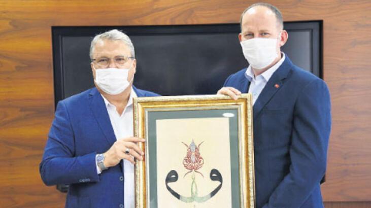 Başkan Çerçi'den kaymakama tablo