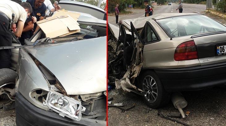 Zonguldak'ta feci kaza! Bu araçtan sağ çıktı