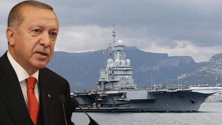 Merkel ile görüşmede Erdoğan'dan sert Fransa tepkisi: O uçak gemisi niye geliyor?
