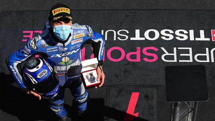 Milli motosikletçi Bahattin Sofuoğlu, İspanya'da ikinci oldu
