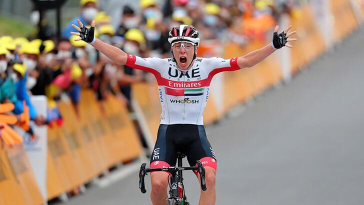 Fransa Turu'nda 9. etabı Tadej Pogacar kazandı!