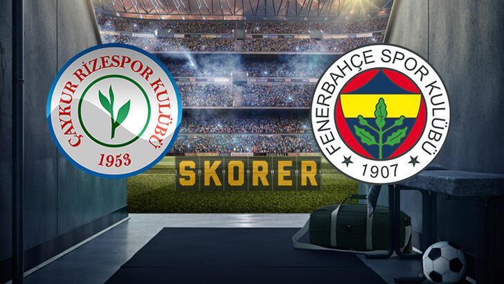 Çaykur Rizespor Fenerbahçe maçı ne zaman, saat kaçta, hangi kanalda?