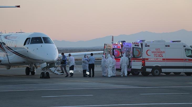 KKTC'deki covid-19 hastalarının Türkiye'ye nakli sürüyor