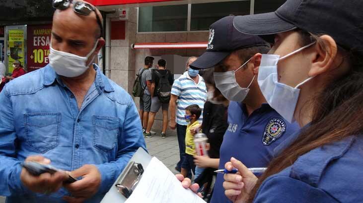 Maske takmayan vatandaştan polise tehdit!
